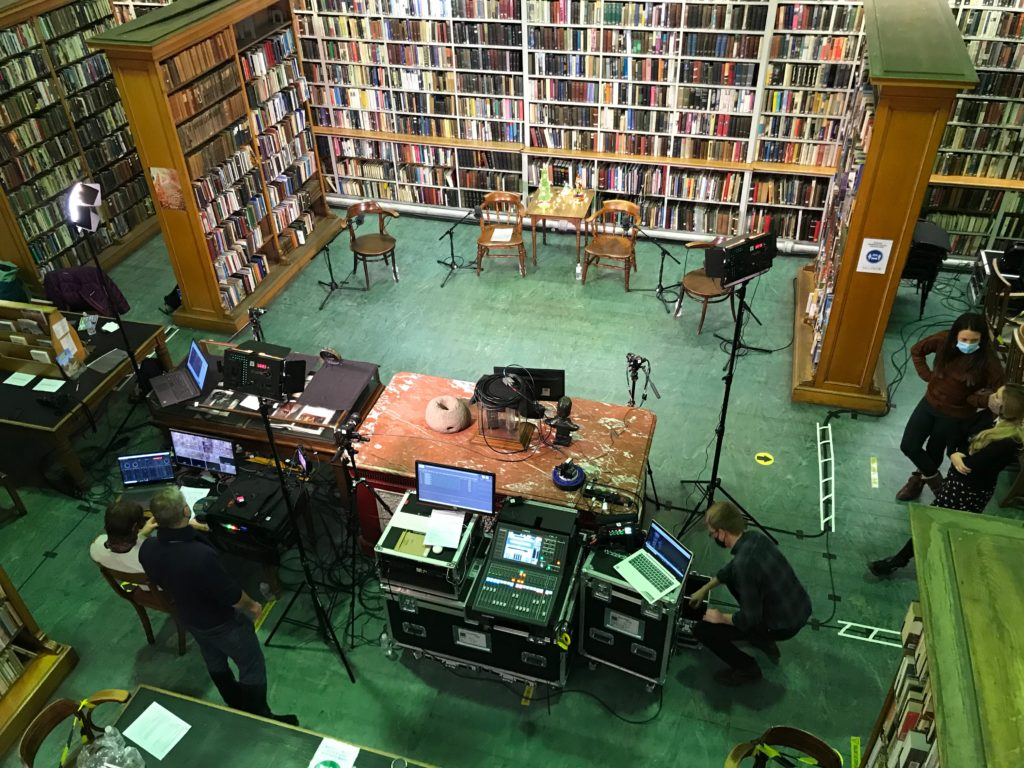 Setting Up for The Spaces and Places of Fairytales @ Literary and Philosophical Society, Newcastle © Corrie Livesey